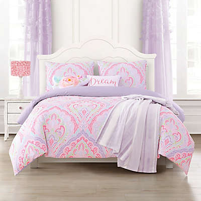Romer Reversible Comforter Set In Pink