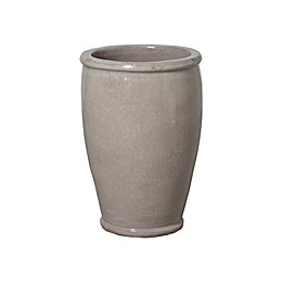 Emissary Round Ceramic Planter in Grey