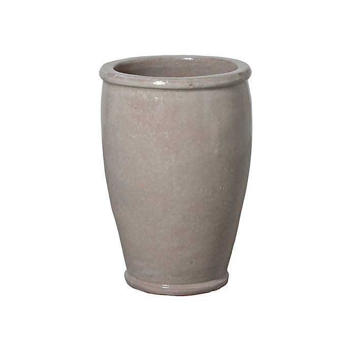 Alternate image 1 for Emissary Round Ceramic Planter in Grey