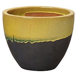 Emissary Large Oval Two-Tone Planter in Yellow