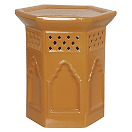 Emissary Morac 17.5-Inch Hexagon Garden Stool in Gold