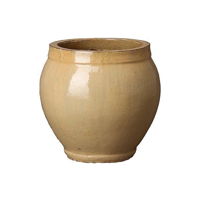 Alternate image 1 for Emissary Ridge Ceramic Planter in Brown