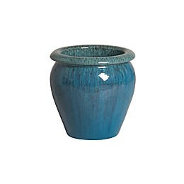 Emissary Small Rimmed Planter in Blue