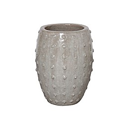 Emissary Studded Round Ceramic Planter