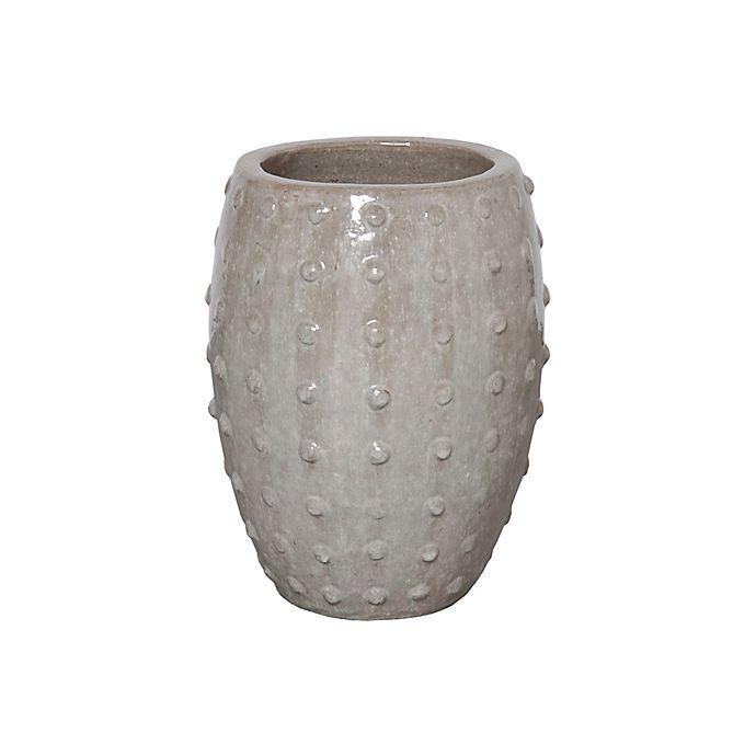 Alternate image 1 for Emissary Studded Round Ceramic Planter
