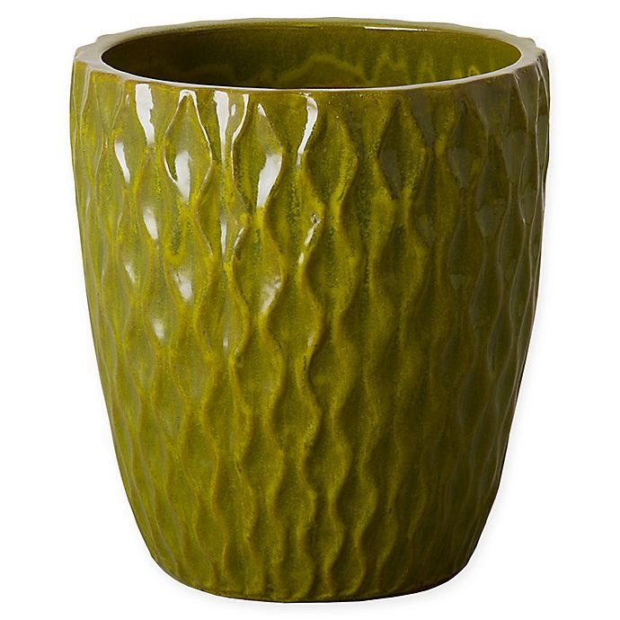 Alternate image 1 for Emissary Net Round Planter in Green