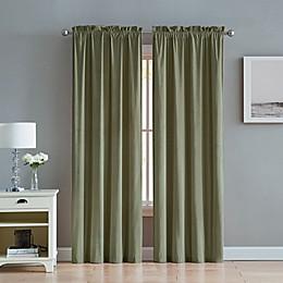 Velvet 2-Pack Rod Pocket Window Curtain Panels