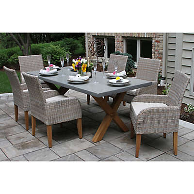Outdoor Interiors® Composite 7-Piece Outdoor Dining Set w/Ash Chairs