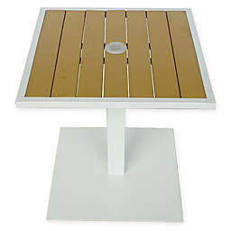 Summerwinds 20-Inch Square All-Weather Steel Umbrella Base Table