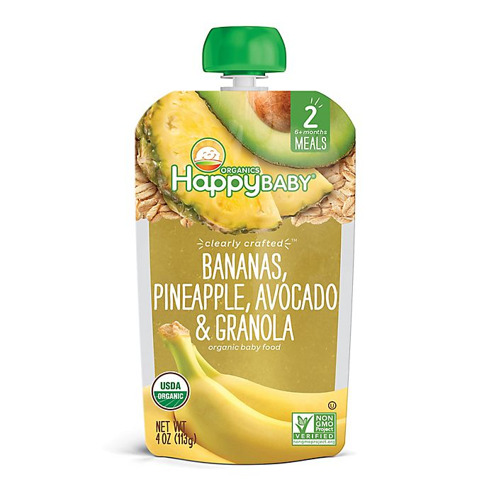 Alternate image 1 for Happy Baby® Clearly Crafted Organic Bananas, Pineapple, Avocado & Granola