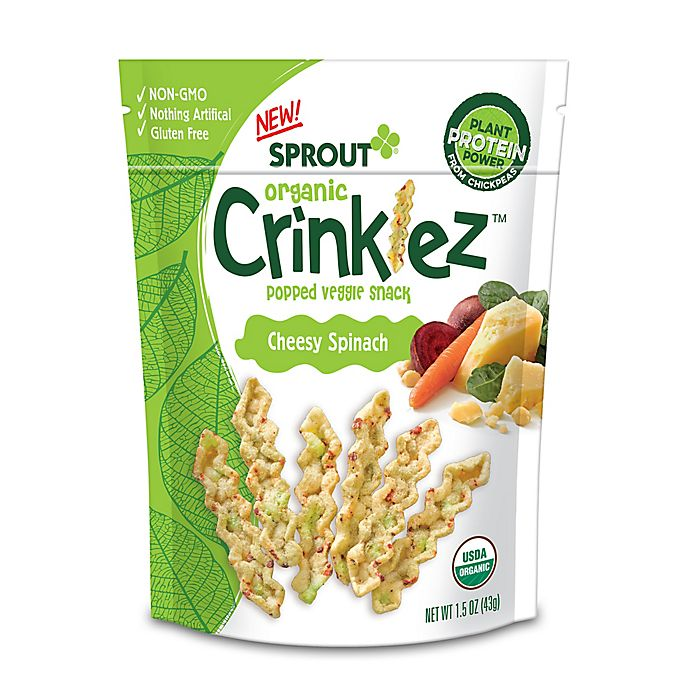 Alternate image 1 for Sprout Organic Foods® 1.48 oz. Cheesy Spinach Crinklez