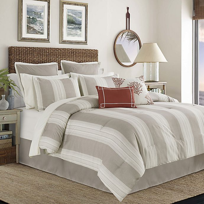 Alternate image 1 for Cleva 12-Piece Queen Comforter Set in Taupe/Ivory