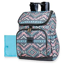 Kelty Aztec-Style Top Zip Backpack Diaper Bag in Pink