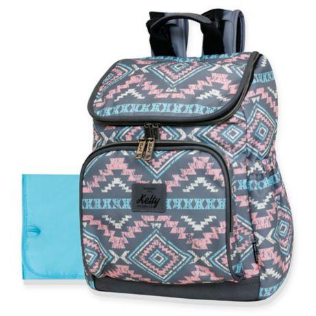 Kelty Aztec Style Top Zip Backpack Diaper Bag In Pink