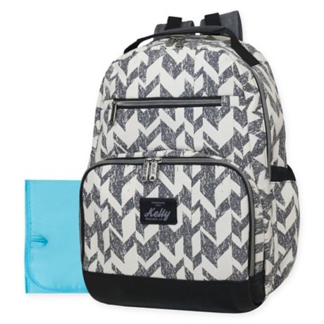 62e32ea8fd Kelty Super Cooler Chevron Backpack Diaper Bag in Grey