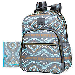 Kelty Aztec-Style Teardrop Backpack Diaper Bag in Blue