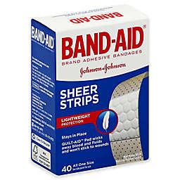 Johnson & Johnson® Band-Aid® 40-Count Sheer Strip Bandages