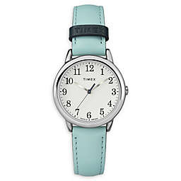 41bb14bb8669 Timex® Easy Reader Ladies  30mm Watch in Silvertone with Blue Leather Strap