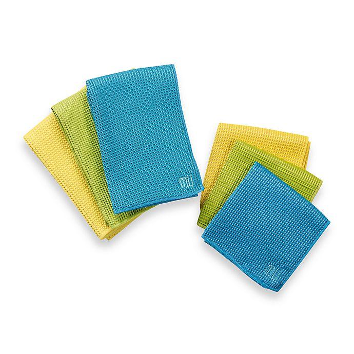 mu kitchen™ waffle kitchen towels and dish cloths   bed bath and