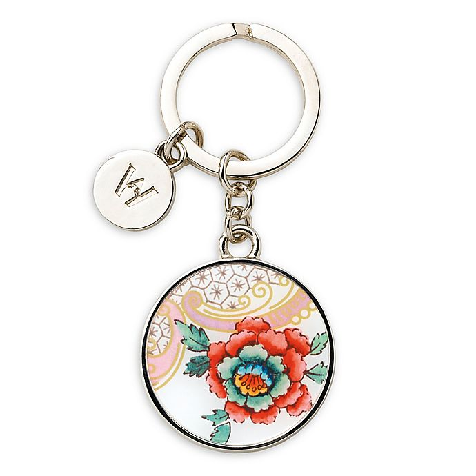 Alternate image 1 for Wedgwood® Wonderlust Rococo Key Ring Flowers in White