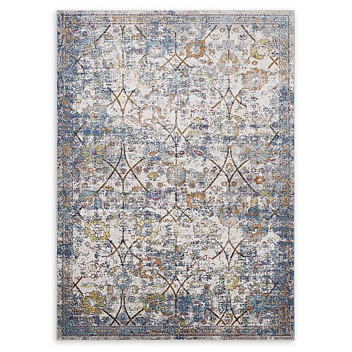 Alternate image 1 for Modway Minu 5' x 8' Flat-Weave Area Rug in Blue/Yellow