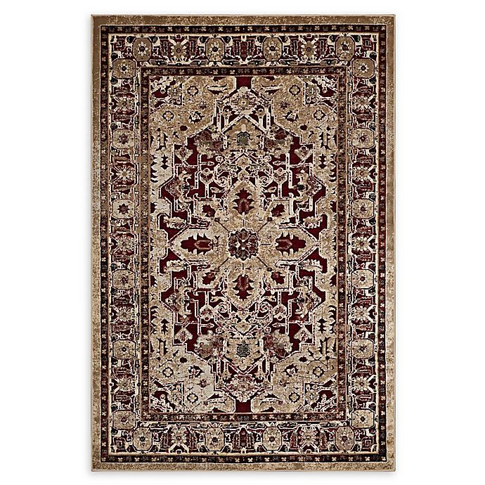 Alternate image 1 for Modway Grania Ornate 8' x 10' Flat-Weave Area Rug in Burgundy/Tan