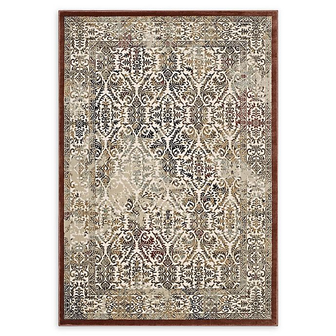 Alternate image 1 for Modway Hester Ornate Turkish 8' x 10' Area Rug in Tan/Walnut Brown