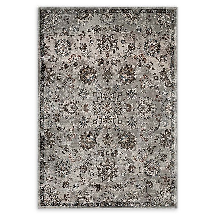 Alternate image 1 for Modway Hana Vintage Floral 8' x 10' Area Rug in Silver/Beige