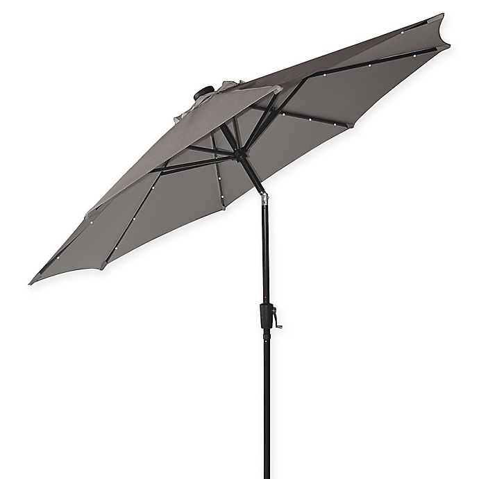 Alternate image 1 for Destination Summer 9-Foot Round Aluminum Solar Umbrella