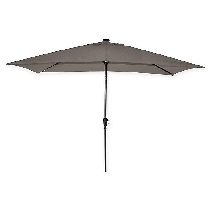 Alternate image 1 for Destination Summer 11-Foot Rectangle Aluminum Solar Umbrella