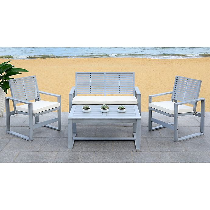 Alternate image 1 for Safavieh Ozark 4-Piece All-Weather Living Set