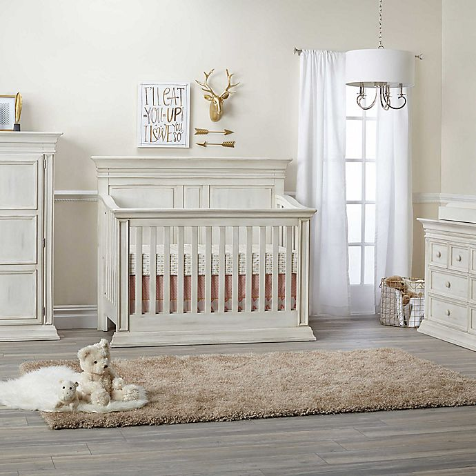 Alternate image 1 for Baby Cache Vienna 4-in-1 Convertible Crib in Antique White