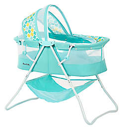 Dream on Me Karly Bassinet in Aqua Blue
