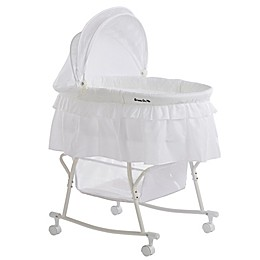 Dream on Me Lacy Portable 2-in-1 Bassinet/Cradle in White