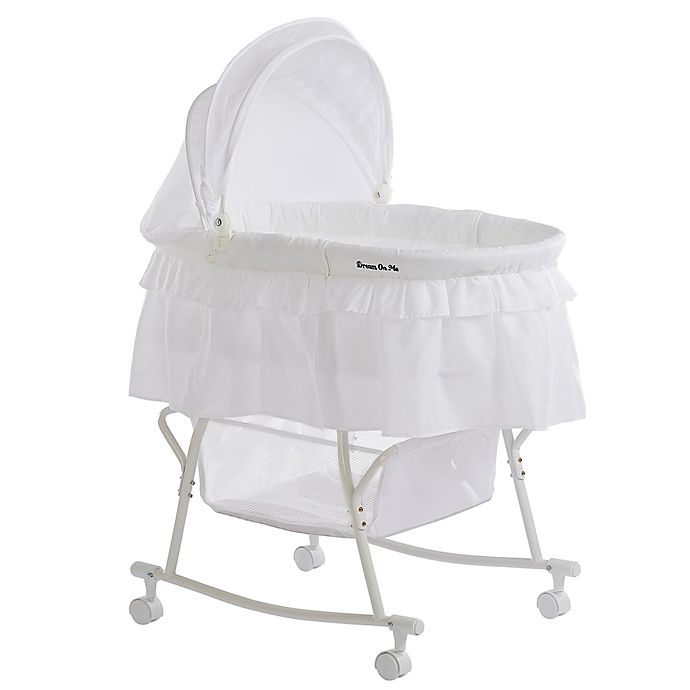 Alternate image 1 for Dream on Me Lacy Portable 2-in-1 Bassinet/Cradle in White