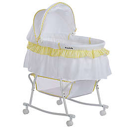 Dream on Me Lacy Portable 2-in-1 Bassinet/Cradle in Yellow/White