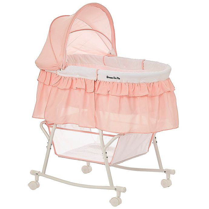 Alternate image 1 for Dream on Me Lacy Portable 2-in-1 Bassinet/Cradle in Rose