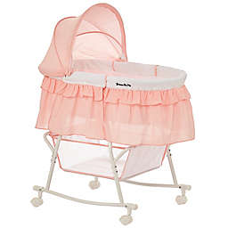 Dream on Me Lacy Portable 2-in-1 Bassinet/Cradle in Rose