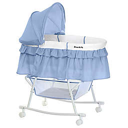 Dream on Me Lacy Portable 2-in-1 Bassinet/Cradle in Serenity/White