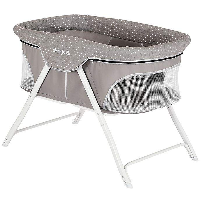 Alternate image 1 for Dream on Me Traveler Portable Bassinet in Grey
