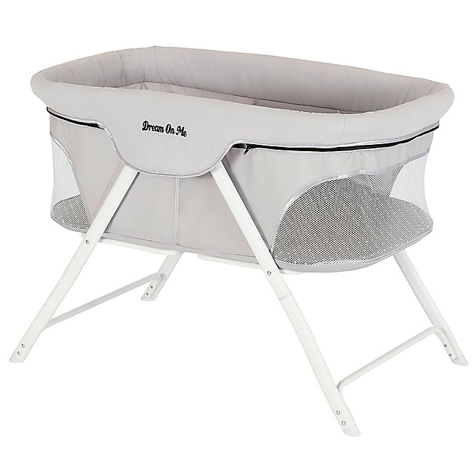 Alternate image 1 for Dream on Me Traveler Portable Bassinet in Cloud Grey