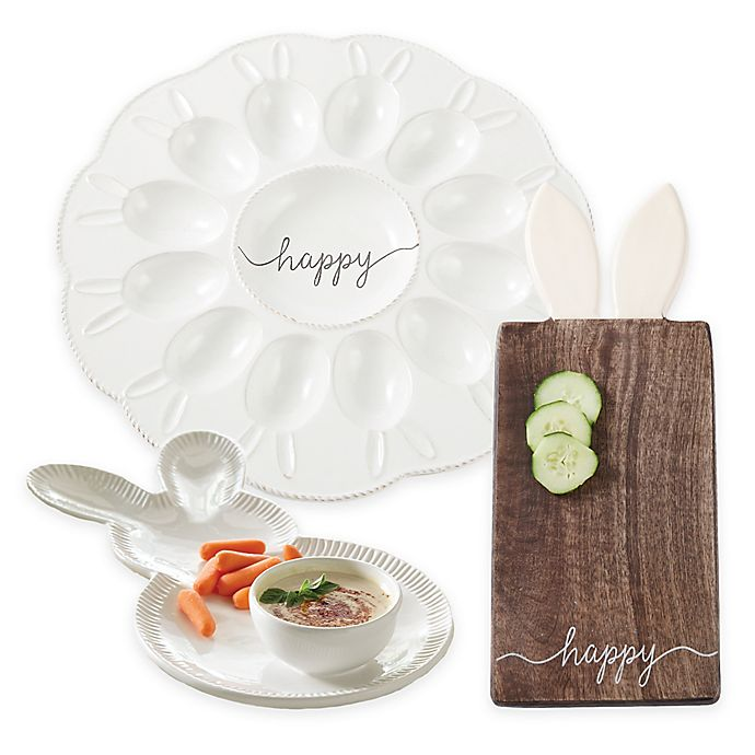 Alternate image 1 for Mud Pie® Bunny Serveware Collection