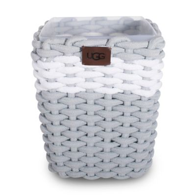 Ugg 174 Napa Cotton Rope Wastebasket In Agave Bed Bath And