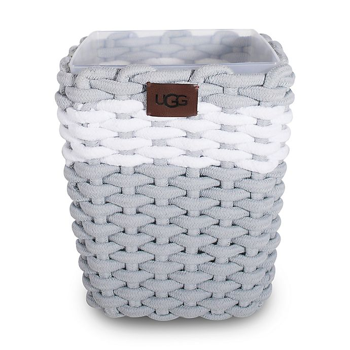 Alternate image 1 for UGG® Napa Cotton Rope Wastebasket in Agave