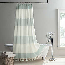 UGG® Napa Yarn-Dyed Stripe Shower Curtain in Agave