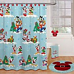 Disney® Holiday 72-Inch x 70-Inch Shower Curtain and Hook Set