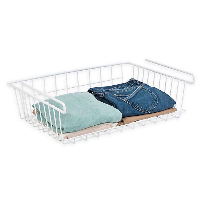 Alternate image 1 for IRIS® Extra Large Undershelf Hanging Basket in White