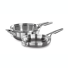 Calphalon® Premier™ Space Saving 3-Piece Stainless Steel 10-Inch Cookware Set