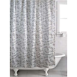Alexa Leaf Shower Curtain in Cream