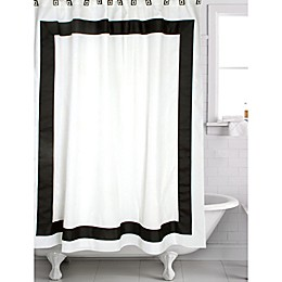 Mayfair Shower Curtain in White/Black